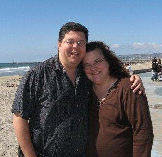 Richard and Patty at Dog Beach April 2011