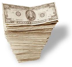 Stack of Twenty Dollar Bills