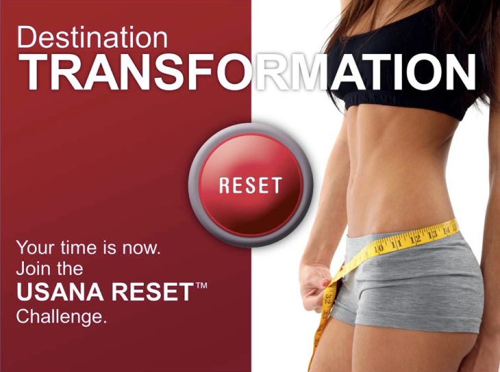 USANA Reset Destination Transformation Weight Loss Contest