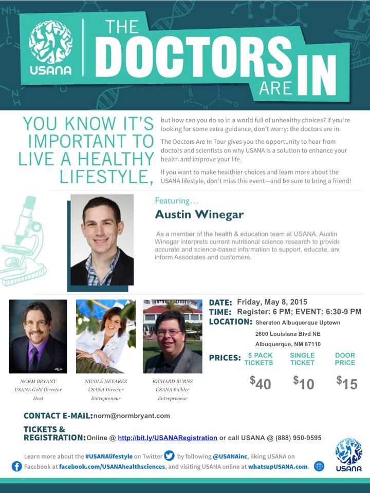 USANA Doctors Are In Tour 2015 - Albuquerque